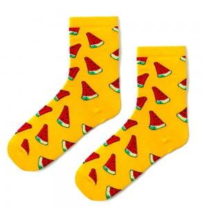 Turuncu Karpuz Desenli Çorap