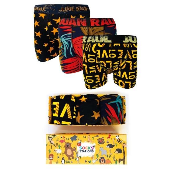 Erkek 3'lü Love Yazılı Boxer Kutusu