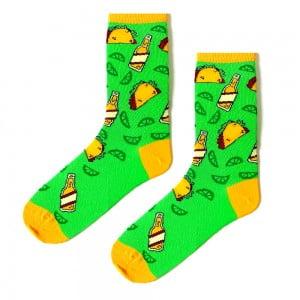 Yeşil Sandviç Desenli Çorap