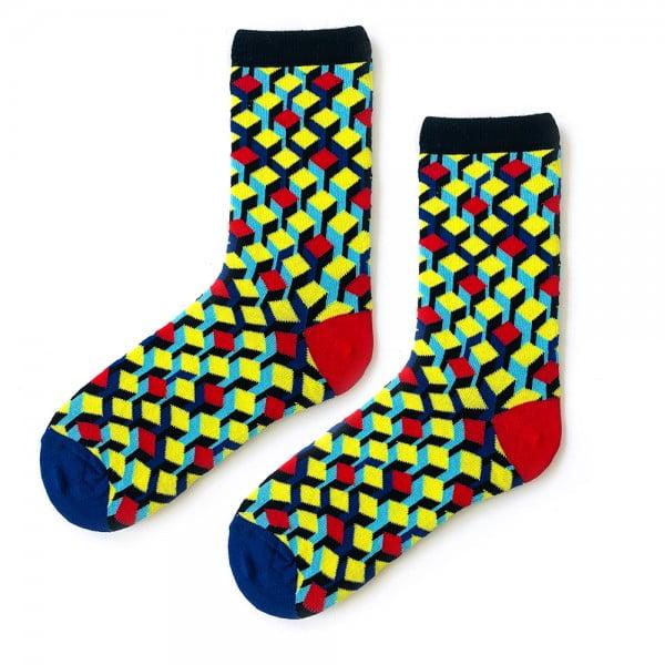 3D Sarı Kırmızı Çorap