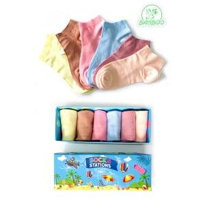 6'lı Soft Renkli Bilek Bambu Çorap Kutusu