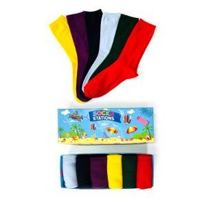 6'lı Pastel Karışık Renkli Çorap Kutusu