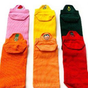 6'lı meyveli bilek yoga & pilates çorabı