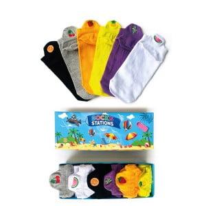 6'lı Meyve Nakışlı Bilek Çorap Kutusu 3