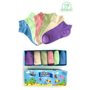 6'lı Soft Renkli Bilek Bambu Çorap Kutusu 2