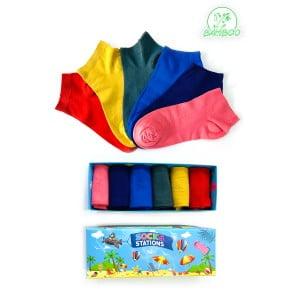 6'lı Pastel Renkli Bilek Bambu Çorap Kutusu