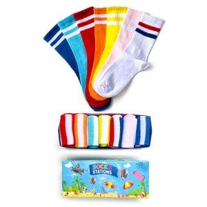 7'li Çift Çizgi Çorap Kutusu