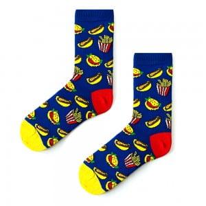 Hamburger Menü Mavi Çorap