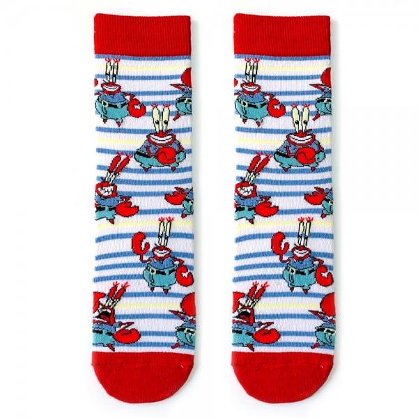 Bay yengeç Çizgili Çorap