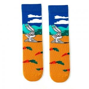 Bugs Bunny Havuç Desenli Çorap