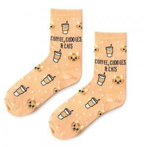 Coffee,Cuddles & Cats Çorap
