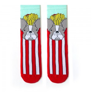 Dik Çizgi Patates Köpek Çorap