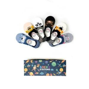 6'lı Hayvan Desenli Çocuk Babet Çorap Kutusu