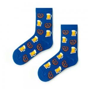 Mavi Bira Kraker Çorap
