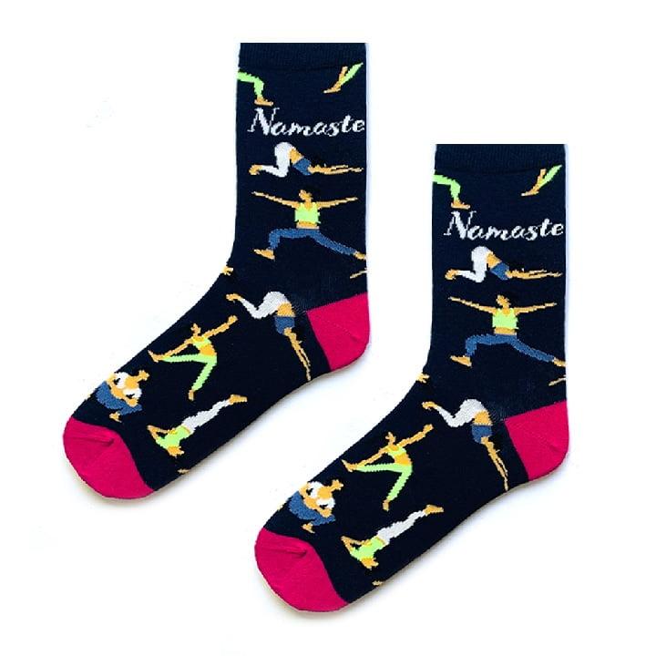 namaste lacivert yoga & pilates çorabı