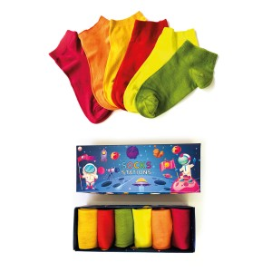 6'lı Pastel Renkli Bilek Bambu Çorap Kutusu 2