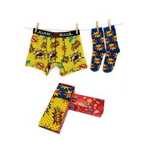 Babalar Gününe Özel Pow Boxer Çorap Seti