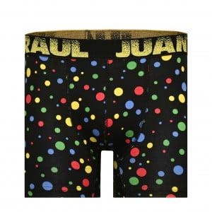 Erkek Renkli Puantiye Siyah Boxer