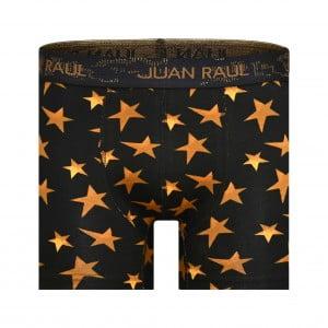 Erkek Yıldız Desenli Siyah Boxer