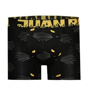 Erkek Kedi Desenli Siyah Boxer
