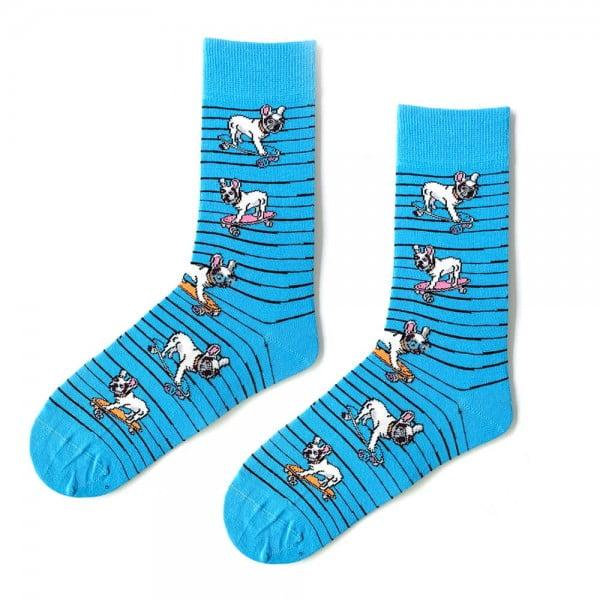 (43-47) Erkek Köpek Mavi Çorap