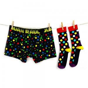 Babalar Günü Özel Puantiye Boxer Çorap Seti
