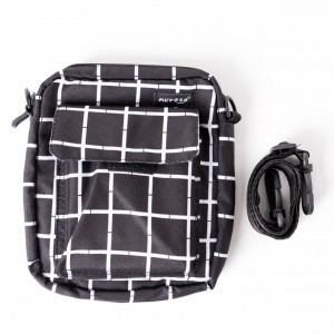 Kareli Siyah Çapraz Çanta
