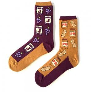 Yer Fıstığı Desenli Çorap