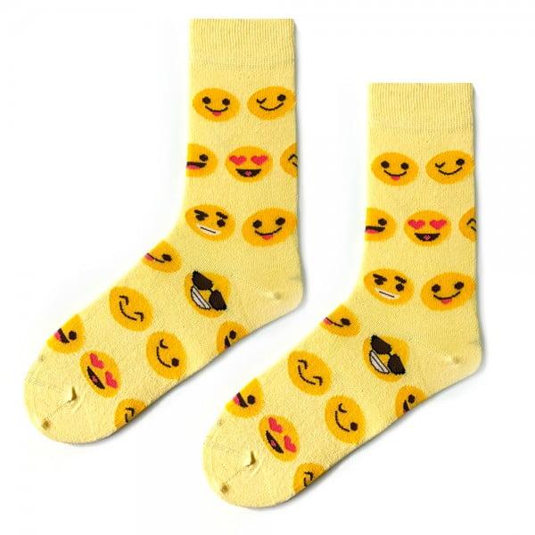 (42-46) Erkek Sarı Emoji Çorap