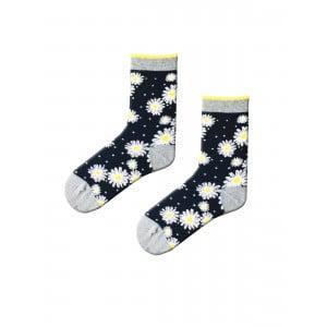 Papatya Desenli Çorap