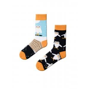 (43-47) Erkek Baykuş Desenli Çorap