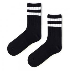 Siyah Çift Çizgili Atletic Çorap